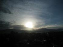 sunrise in padang, west sumatera, indonesia
