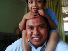 me and syaikhan (5 years old)