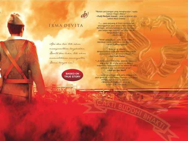 cover novel Sang Patriot dan logo DJP