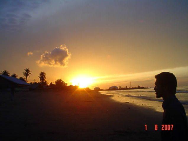 sunset di lhoksemawe