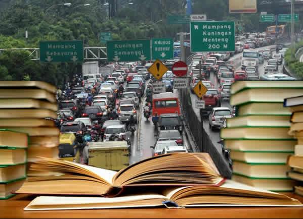 kemacetan dan hadiah buku