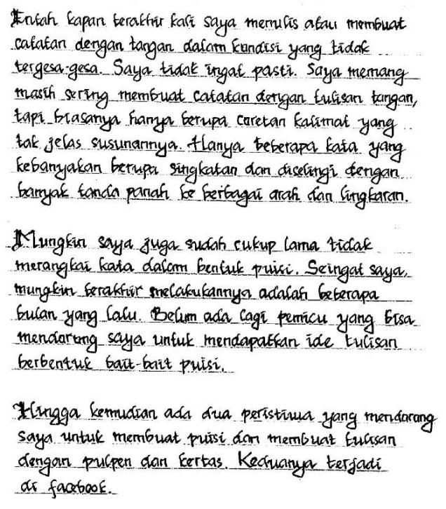 puisi tulisan tangan bagian 1