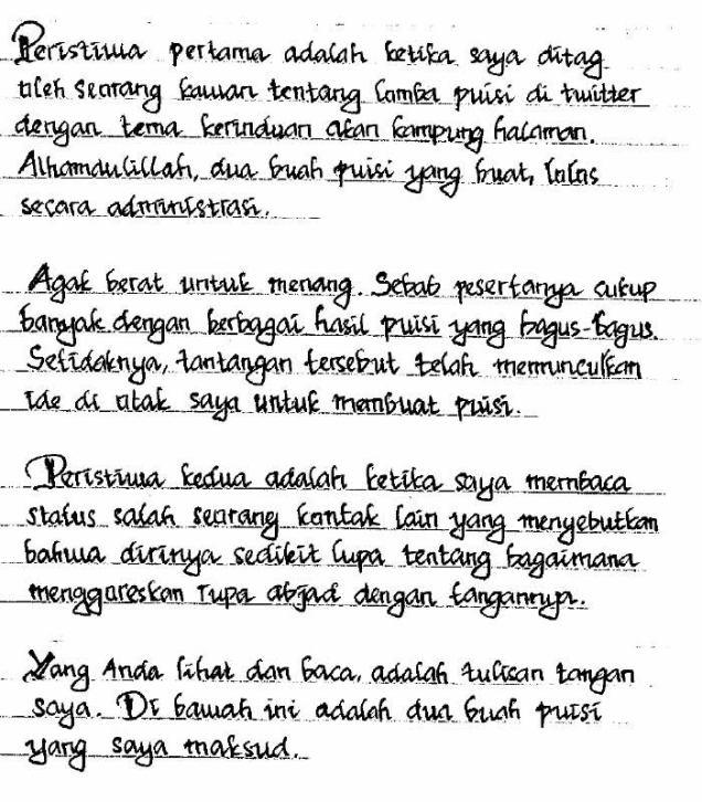 puisi tulisan tangan bagian 2