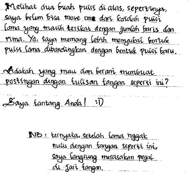 puisi tulisan tangan bagian 4