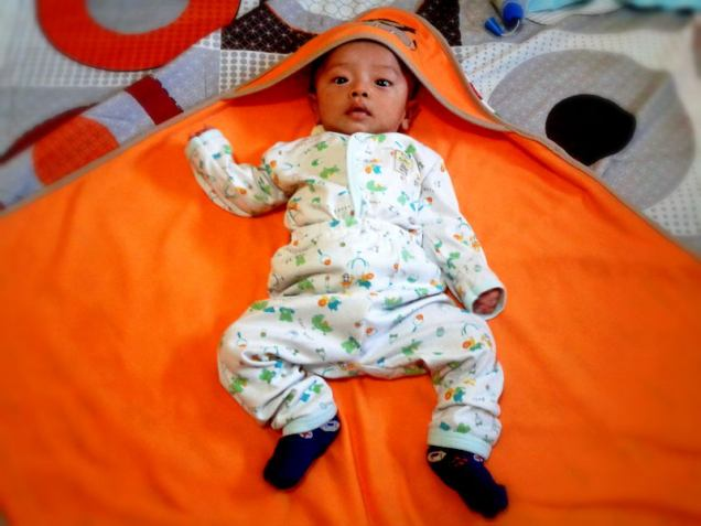 orange - blanket