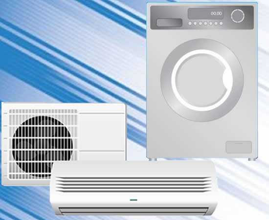 mesin cuci dan air conditioner