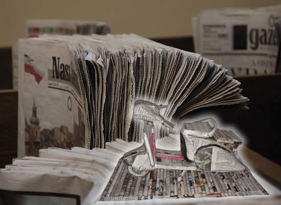 kerajinan koran bekas