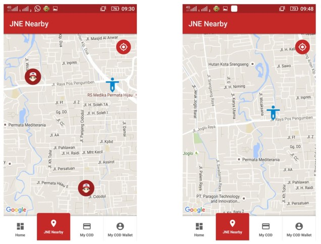06 - aplikasi my jne - JNE nearby my location