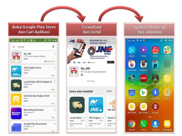 aplikasi my jne - download dan instal