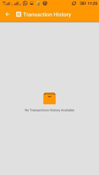 My COD Transaction History